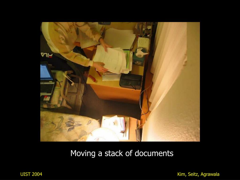 Moving a stack of documents