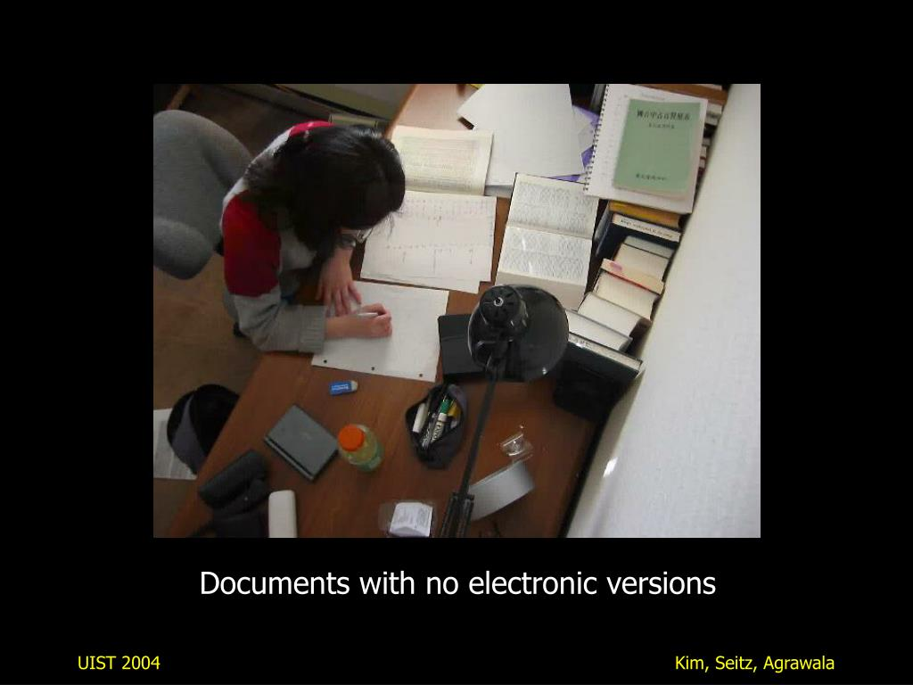 Documents with no electronic versions