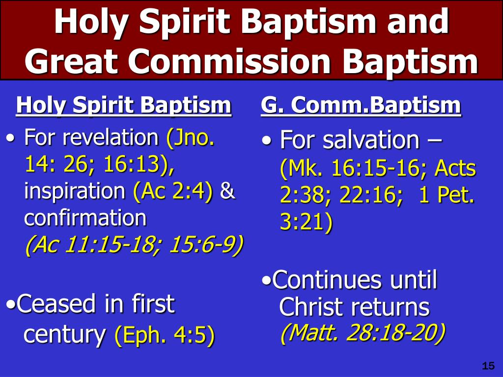 Holy Spirit Baptism