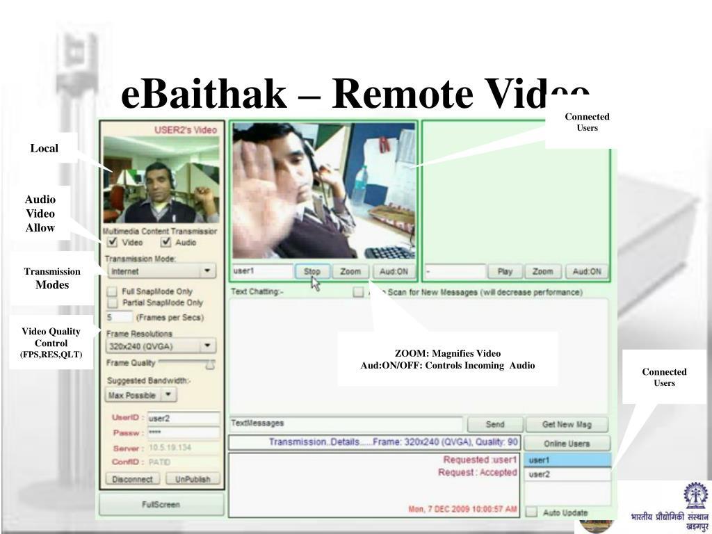 eBaithak – Remote Video