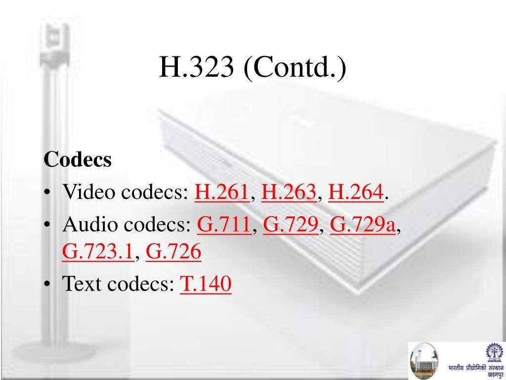 H.323 (Contd.)