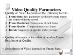 video quality parameters