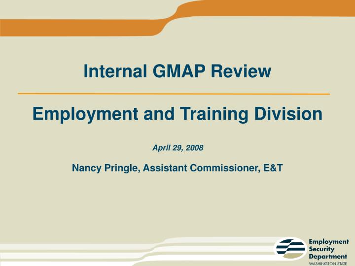 Internal GMAP Review