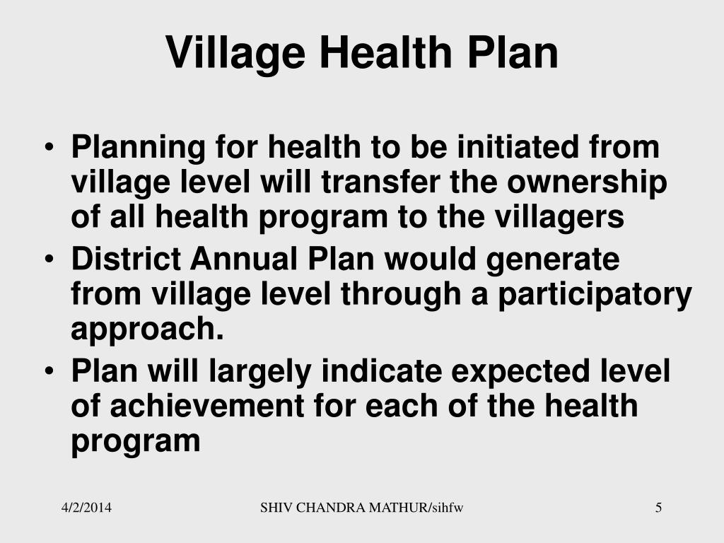 Village Health Plan