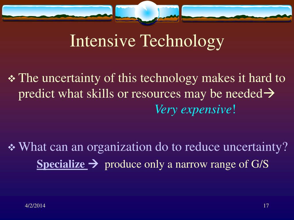 Intensive Technology