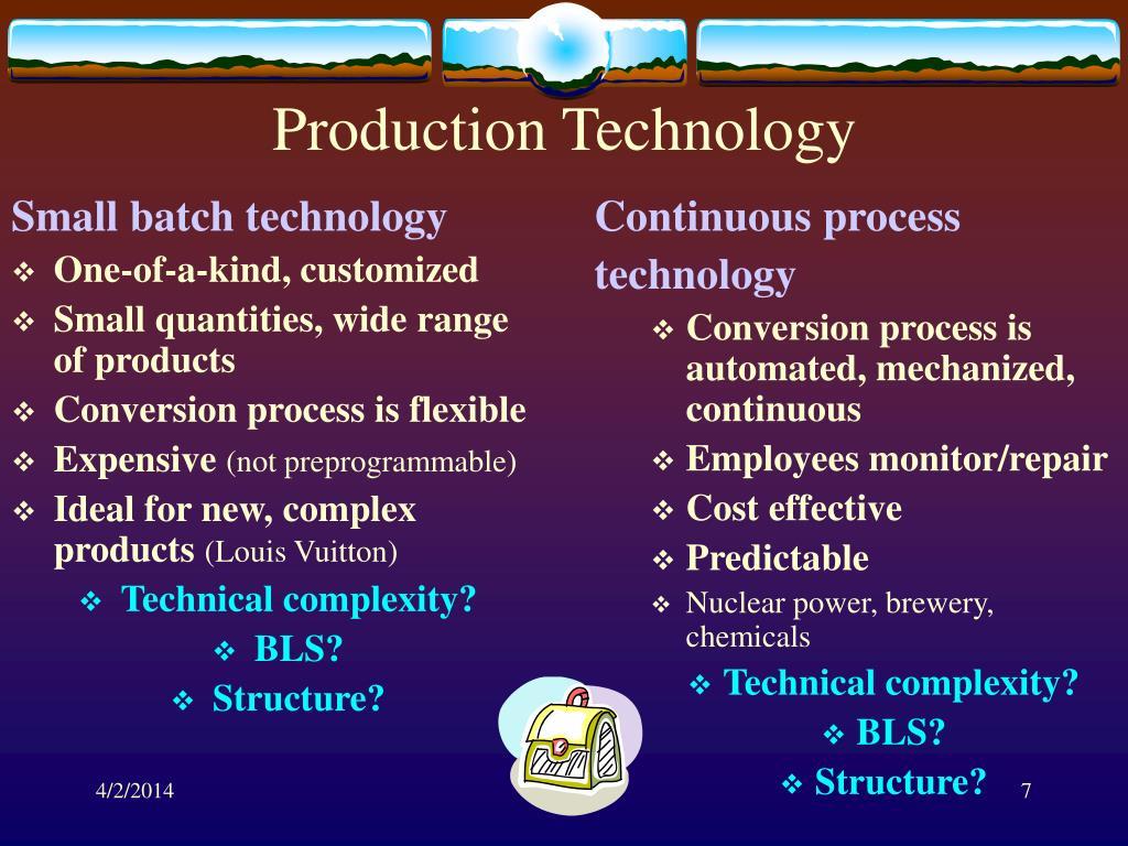 Small batch technology