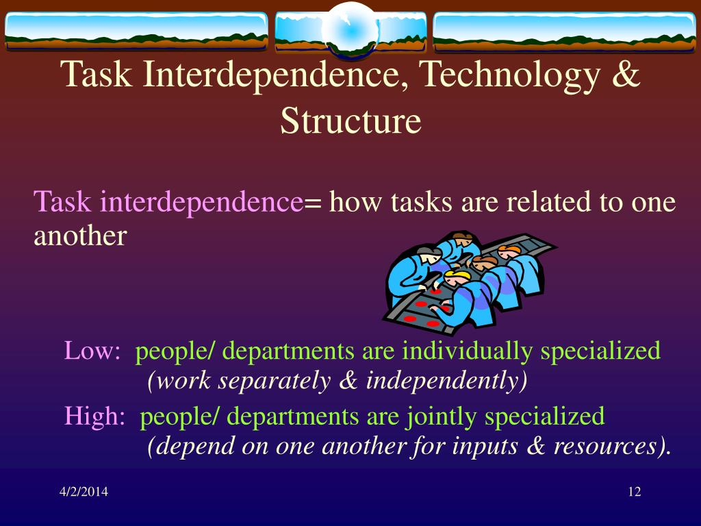 Task Interdependence, Technology & Structure