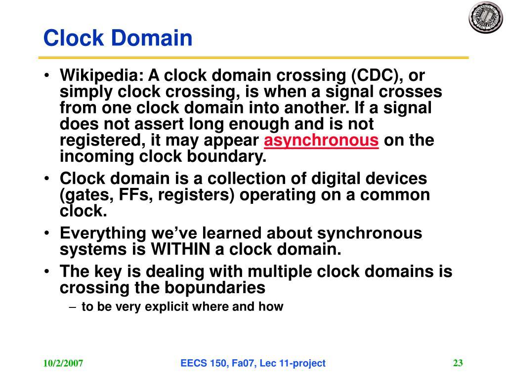 Clock Domain