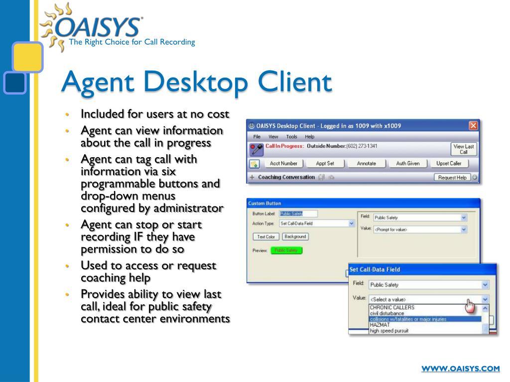 Agent Desktop Client