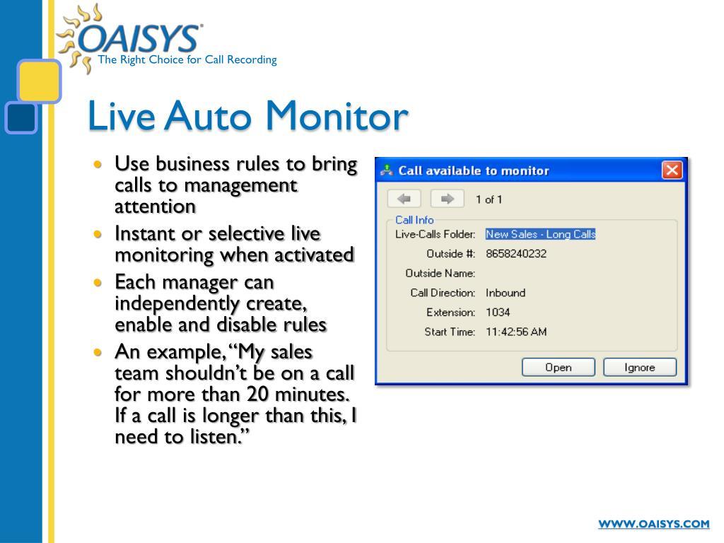 Live Auto Monitor