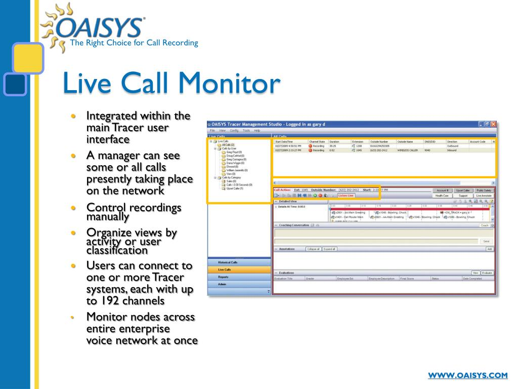 Live Call Monitor