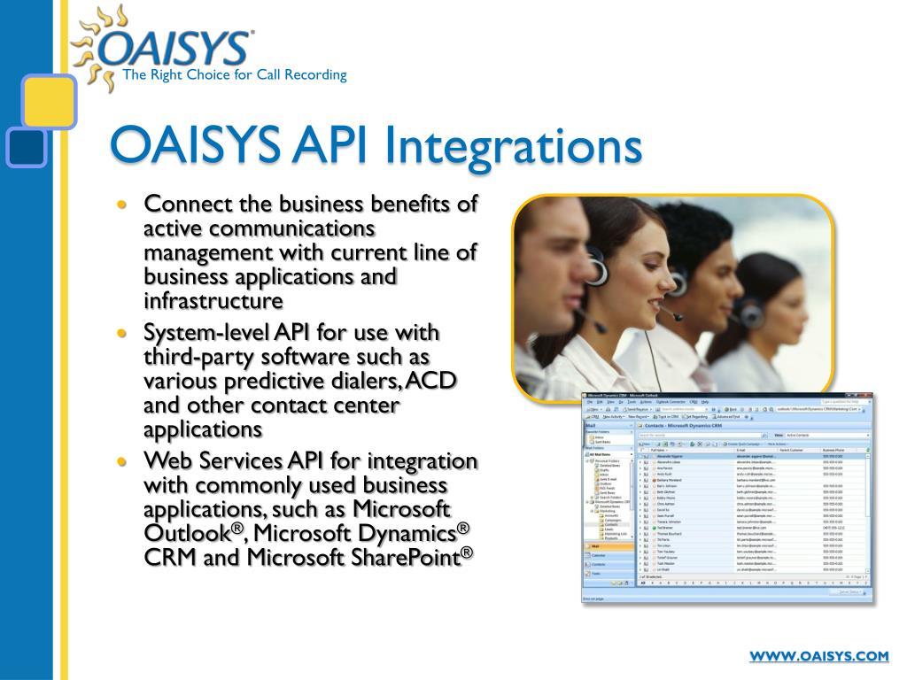 OAISYS API Integrations