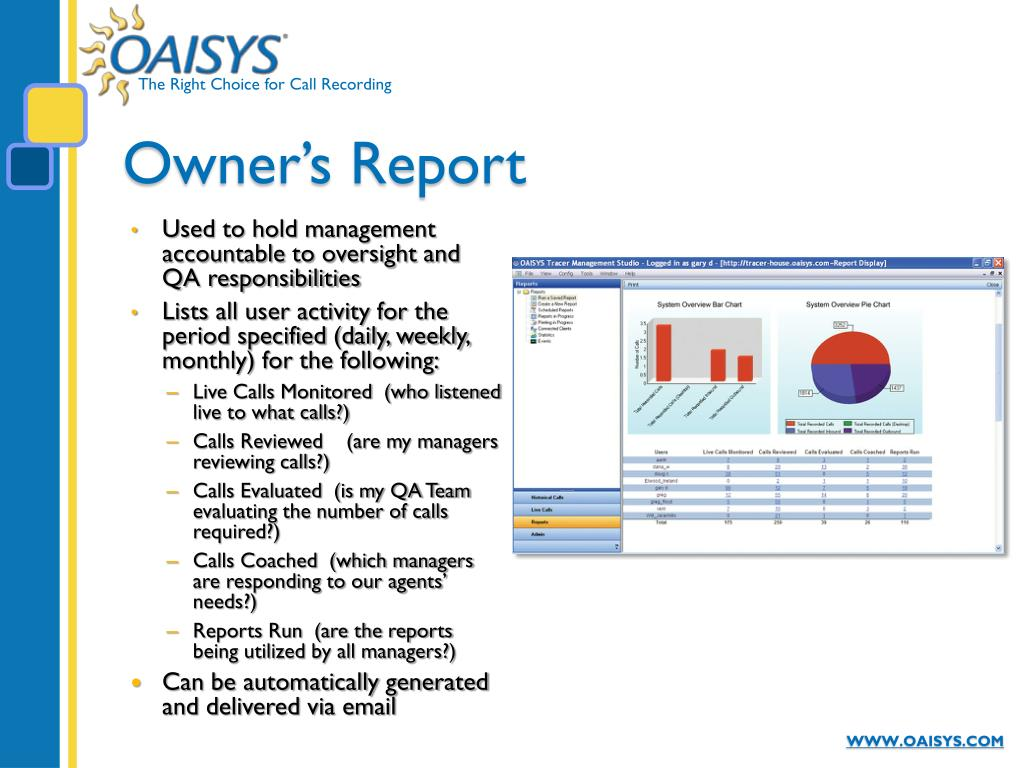 Owner's Report