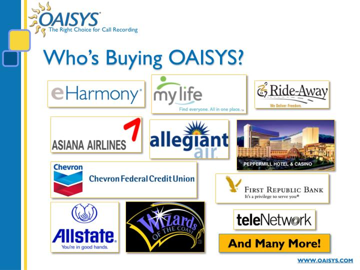 Who s buying oaisys
