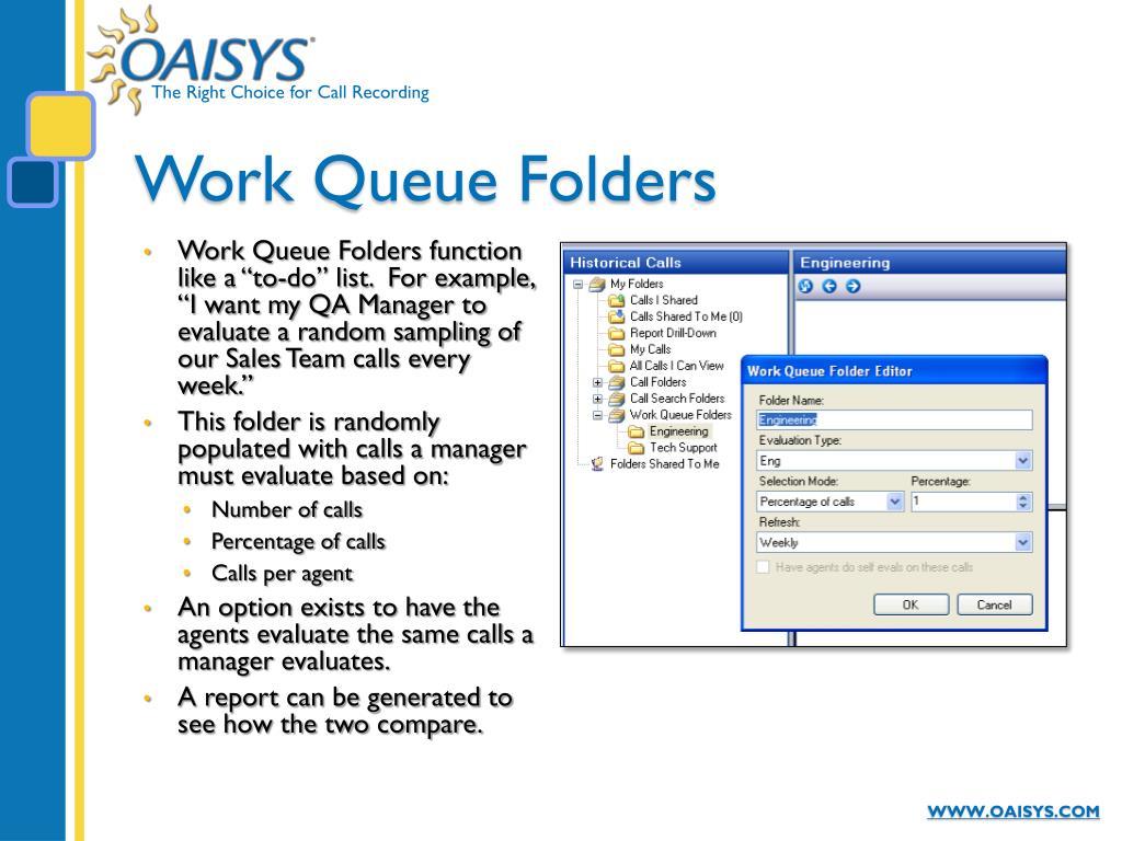 Work Queue Folders