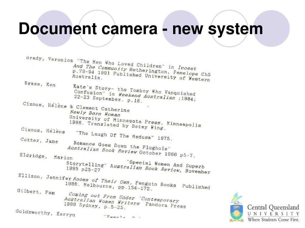 Document camera - new system