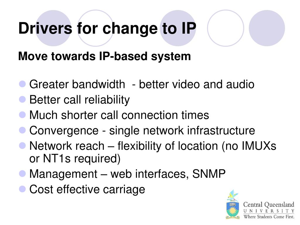 Drivers for change to IP