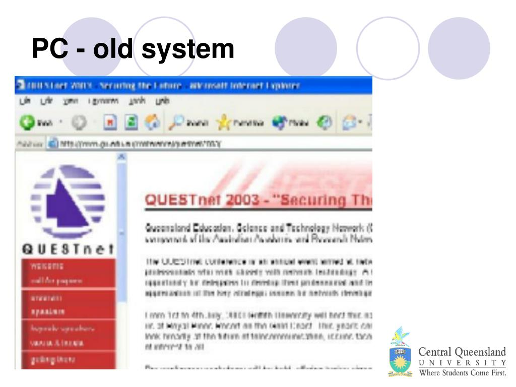 PC - old system