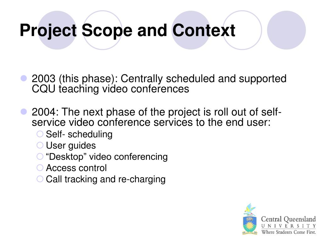 Project Scope and Context