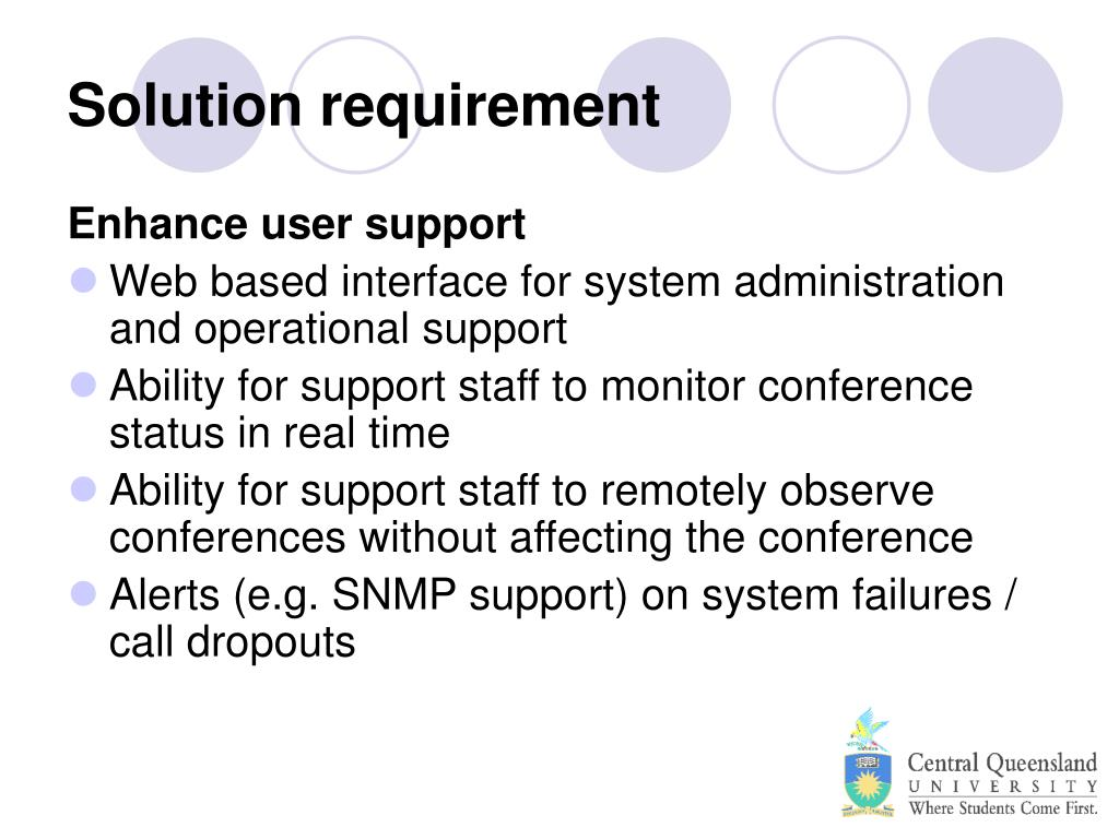 Solution requirement