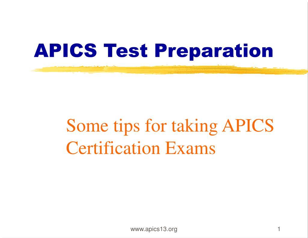 APICS Test Preparation