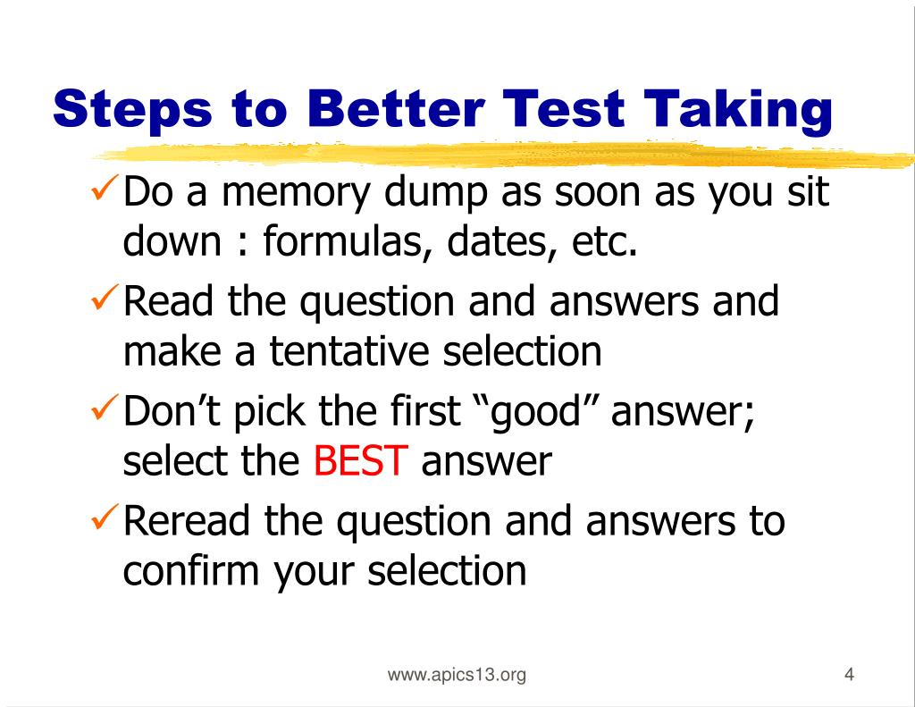 Steps to Better Test Taking