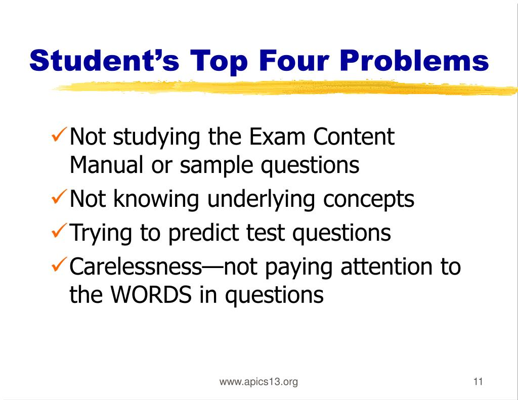 Student's Top Four Problems