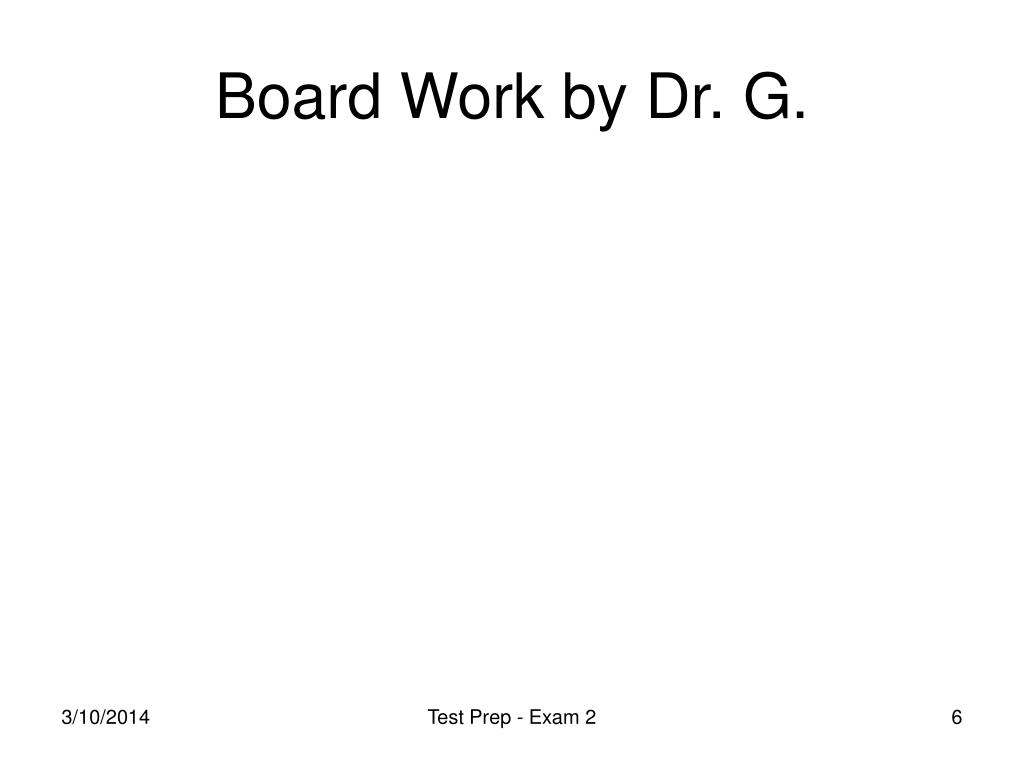 Board Work by Dr. G.