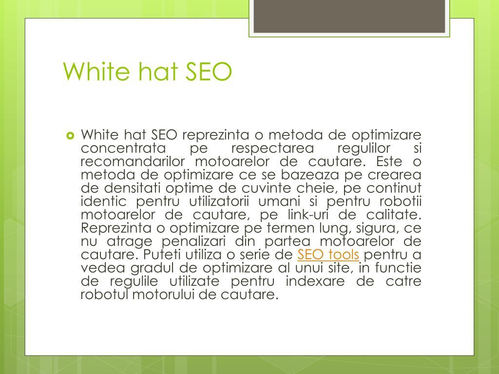 White hat SEO
