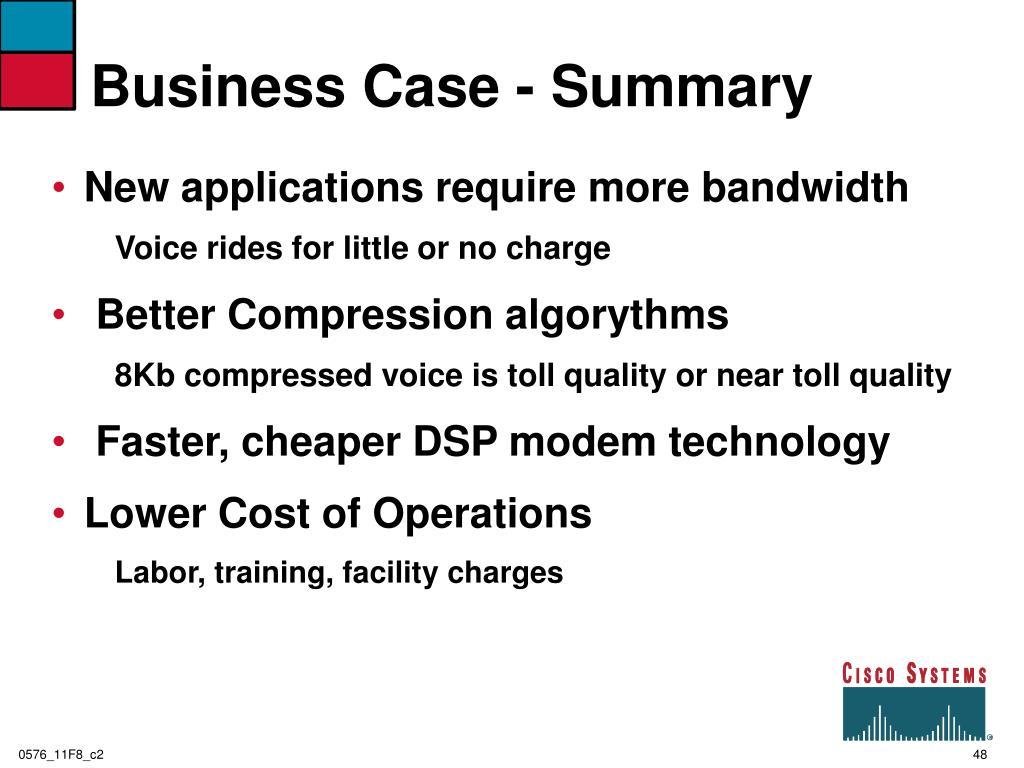 Business Case - Summary