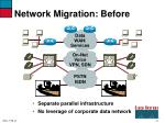 network migration before
