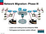 network migration phase iii