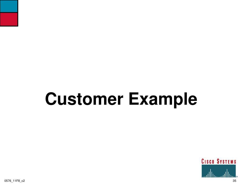 Customer Example