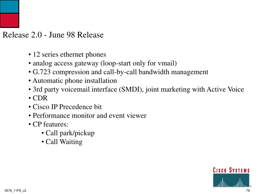 Release 2.0 - June 98 Release