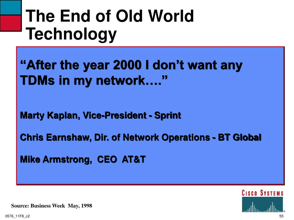 The End of Old World Technology