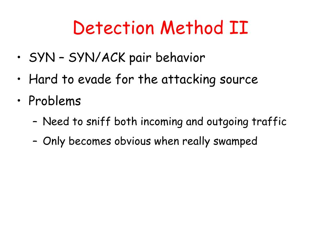 Detection Method II