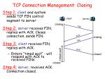 tcp connection management closing