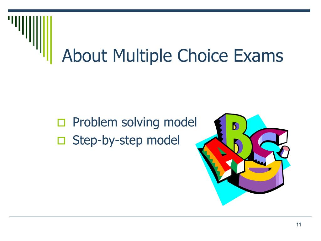 About Multiple Choice Exams