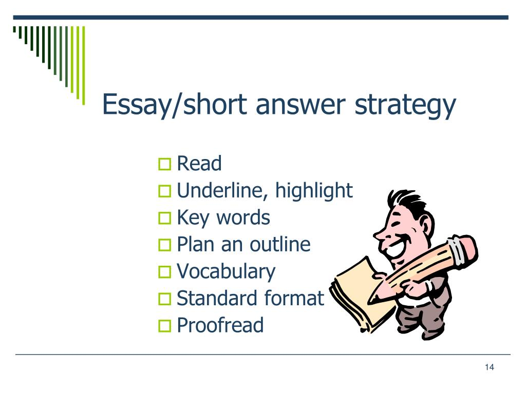 Essay/short answer strategy