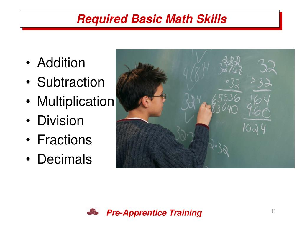 Required Basic Math Skills