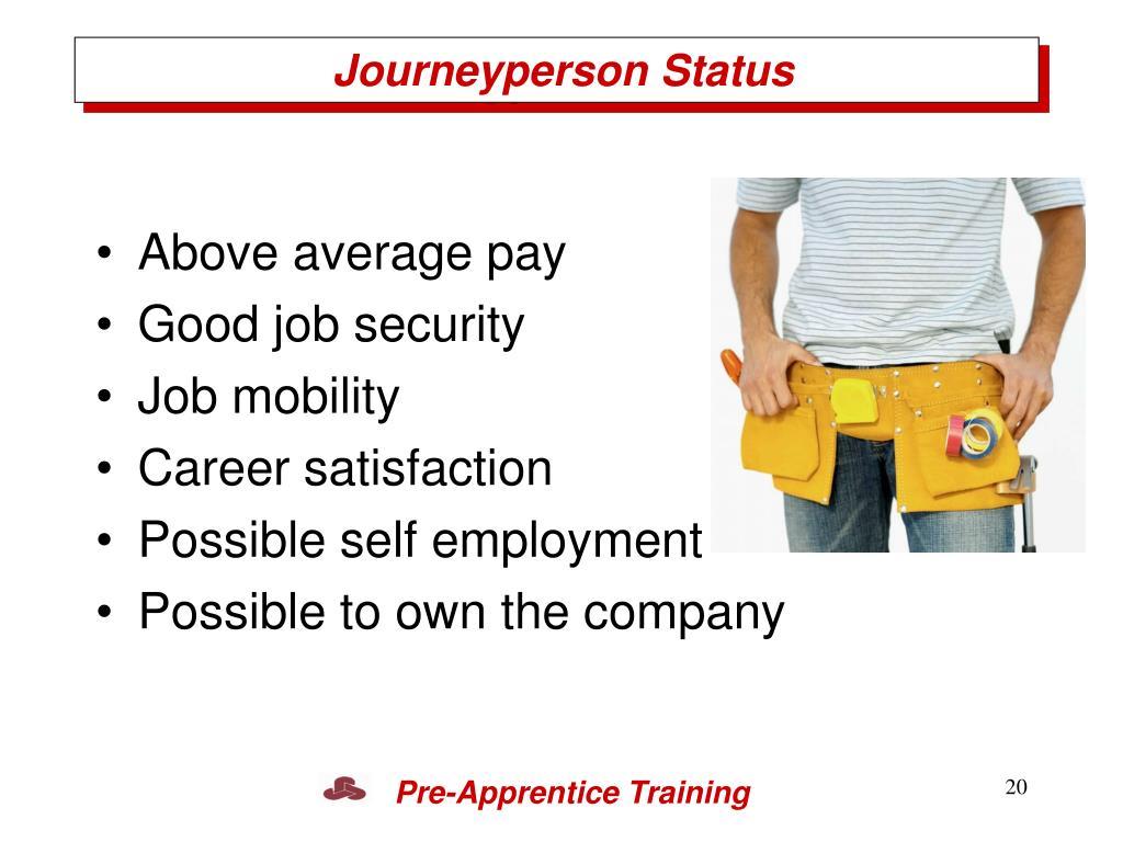 Journeyperson Status