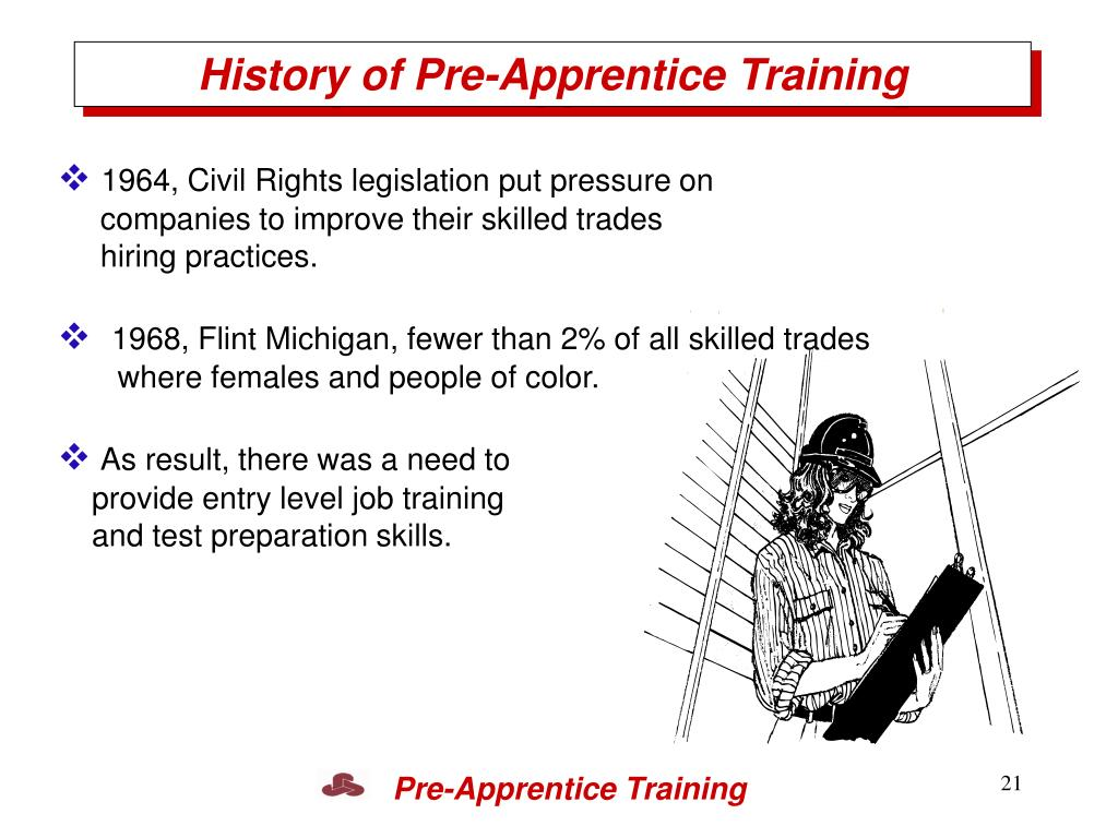 History of Pre-Apprentice Training