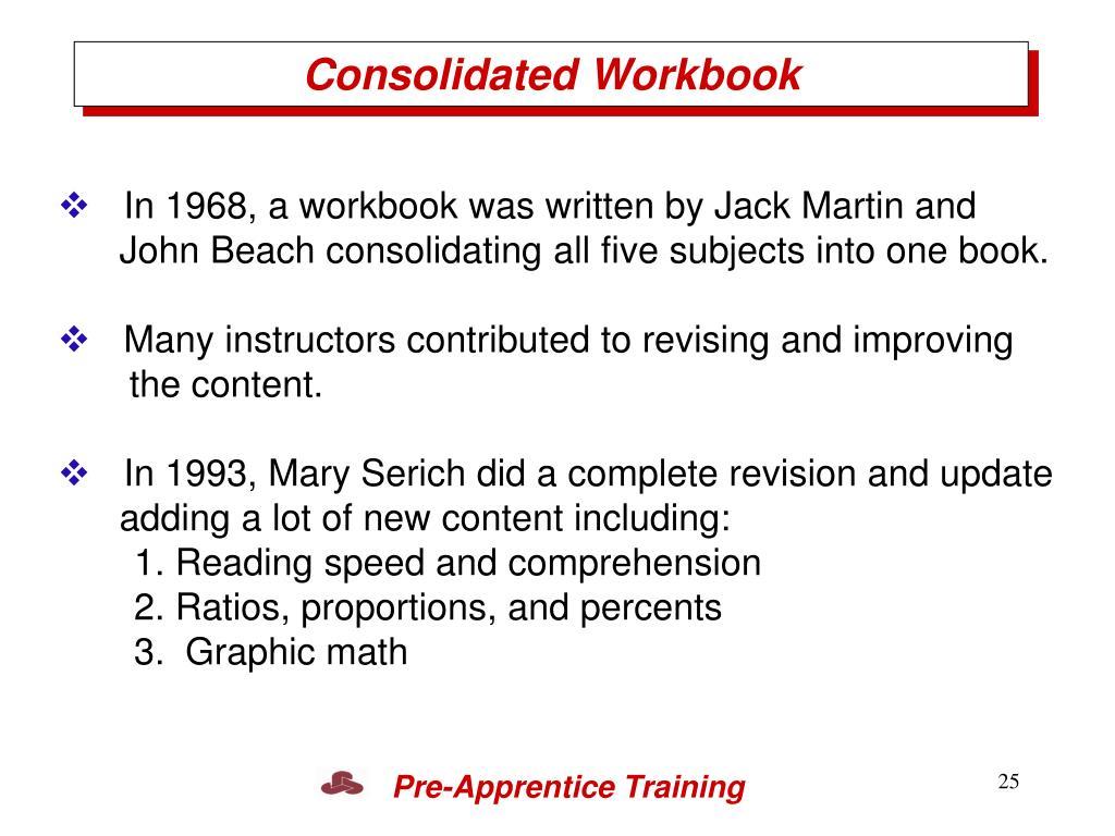 Consolidated Workbook