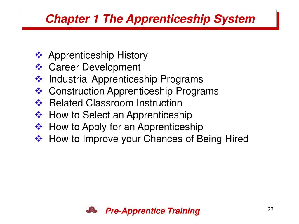 Chapter 1 The Apprenticeship System
