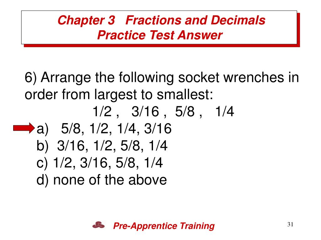 Chapter 3   Fractions and Decimals
