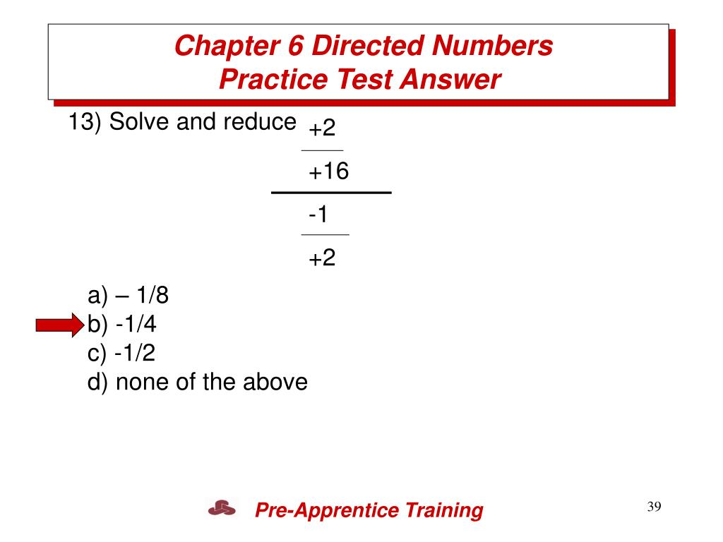 Chapter 6 Directed Numbers