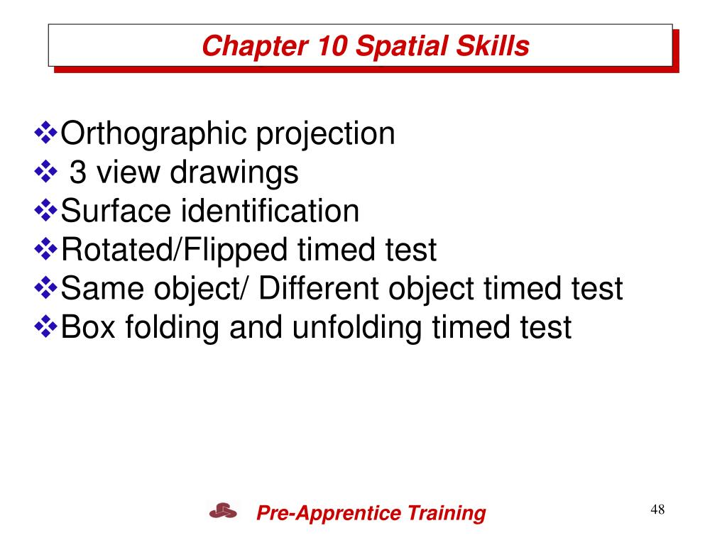 Chapter 10 Spatial Skills