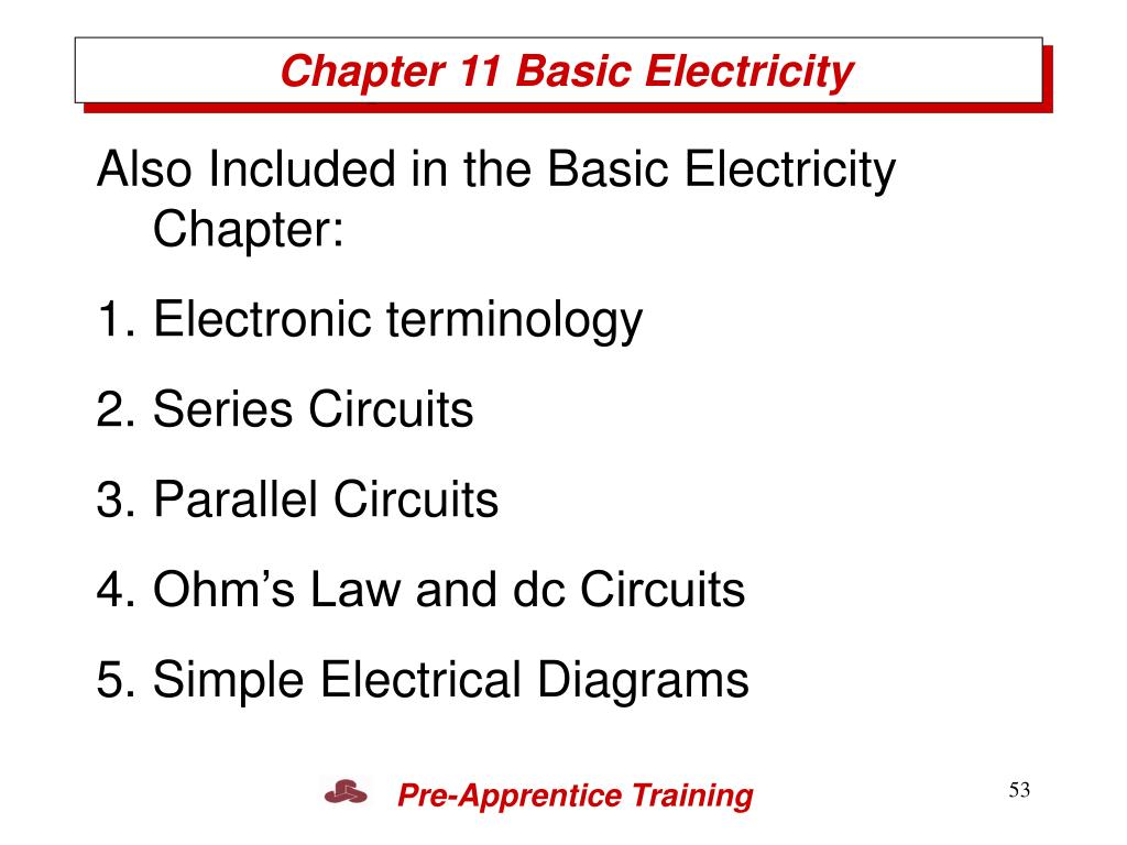 Chapter 11 Basic Electricity
