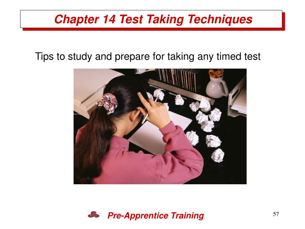 Chapter 14 Test Taking Techniques