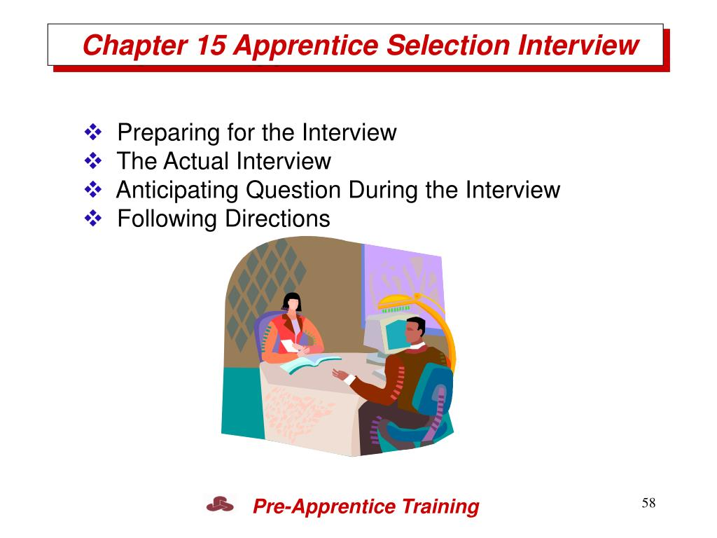 Chapter 15 Apprentice Selection Interview